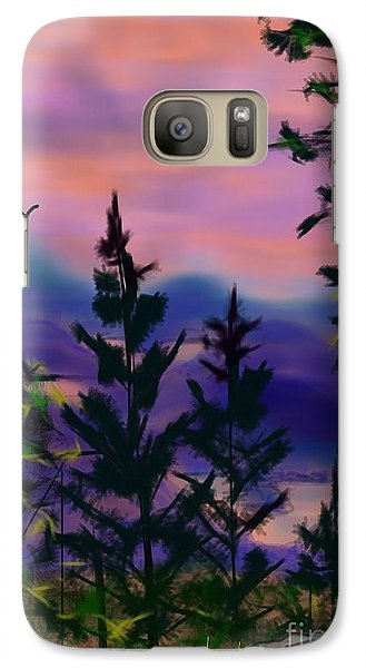 Galaxy Case featuring the painting ptg.  Mount Baker View by Judy Via-Wolff
