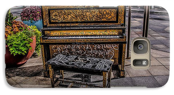 Galaxy Case featuring the photograph Public Piano by Ray Congrove