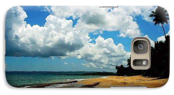 Galaxy Case featuring the digital art Puerto Rican Beach by Kara  Stewart