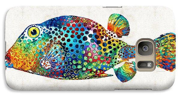 Puffer Fish Art - Puff Love - By Sharon Cummings Galaxy S7 Case