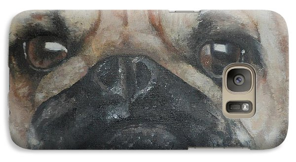 Galaxy Case featuring the painting PuG by Cherise Foster