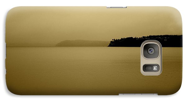 Galaxy Case featuring the photograph Puget Sound In Sepia by Kandy Hurley