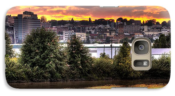 Galaxy Case featuring the photograph Pulallup River Sunset II by Rob Green