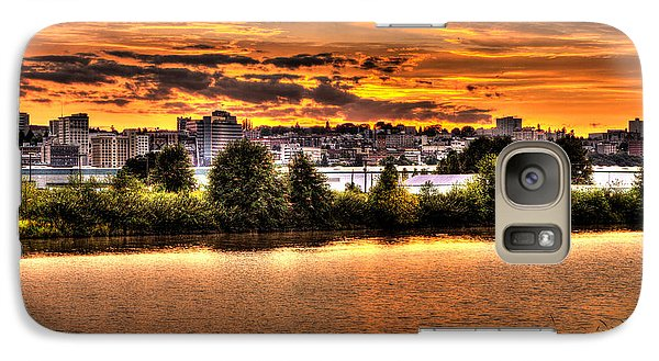 Galaxy Case featuring the photograph Pulallup River Sunset by Rob Green