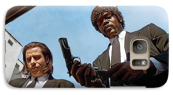 Galaxy Case featuring the painting Pulp Fiction Artwork 1 by Sheraz A
