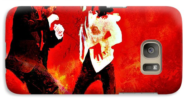 Galaxy Case featuring the painting Pulp Fiction Dance 2 by Brian Reaves
