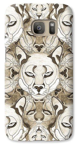 Galaxy Case featuring the mixed media Puma Spirits by Joseph J Stevens
