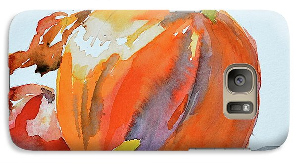 Galaxy Case featuring the painting Pumpkin And Pomegranate by Beverley Harper Tinsley