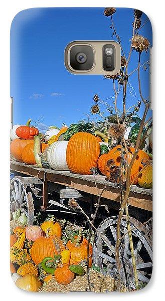 Galaxy Case featuring the photograph Pumpkin Farm by Minnie Lippiatt