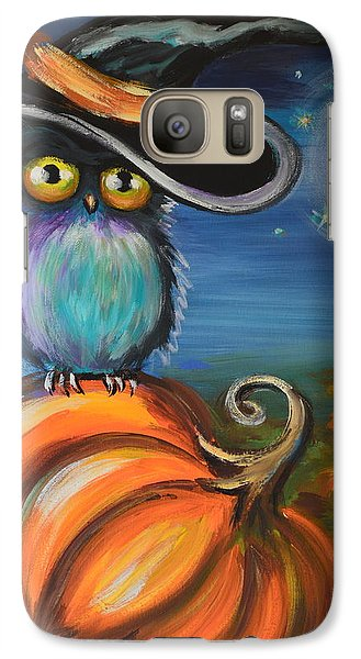 Galaxy Case featuring the painting Owl Bewitch You by Agata Lindquist