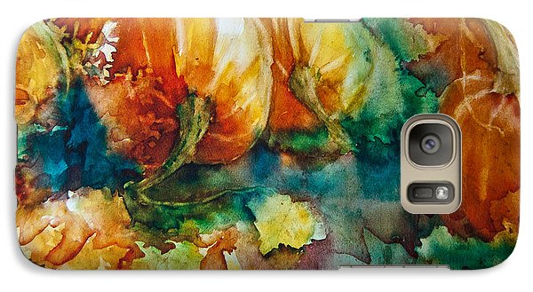 Galaxy Case featuring the painting Pumpkin Patch by Jani Freimann