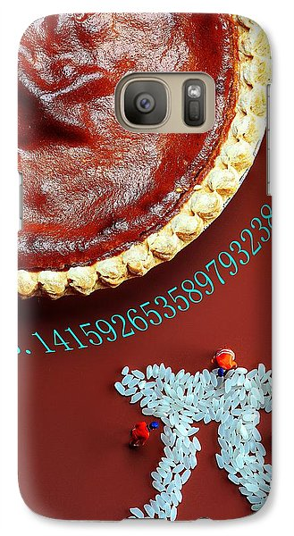 Galaxy Case featuring the photograph Pumpkin Pie And Pi Food Physics by Paul Ge