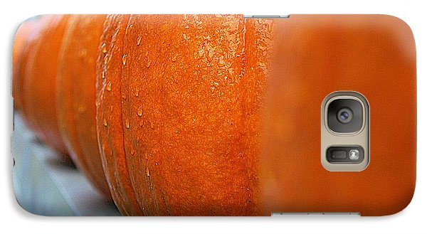 Galaxy Case featuring the photograph Pumpkins All In A Row by John S