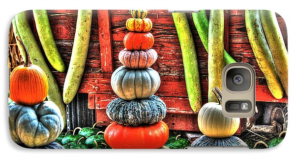 Galaxy Case featuring the digital art Pumpkins And Gourds by Linda Segerson