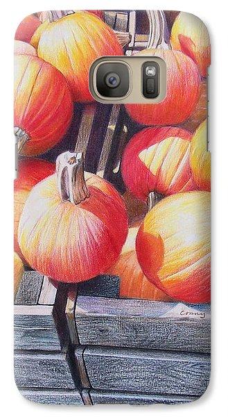 Galaxy Case featuring the painting Pumpkins by Constance Drescher