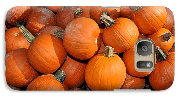 Galaxy Case featuring the photograph Pumpkins by Diane Lent