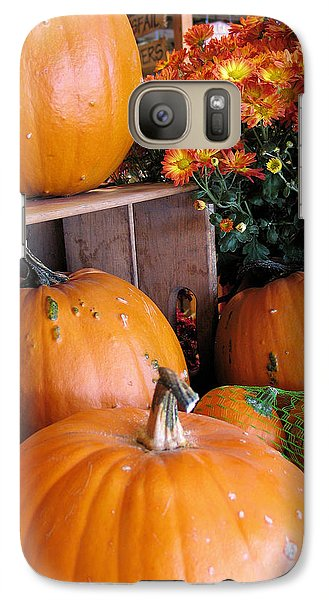 Galaxy Case featuring the photograph Pumpkins by Gerry Bates