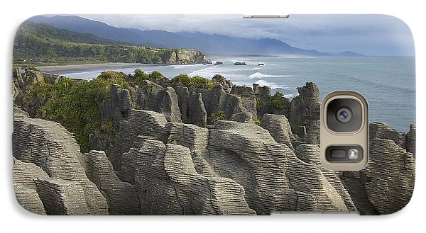 Galaxy Case featuring the photograph Punakaiki Pancake Rocks by Stuart Litoff