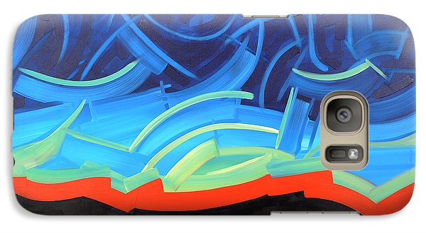 Galaxy Case featuring the painting Puncturing Daybreak by Michael Ciccotello