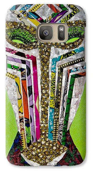 Galaxy Case featuring the tapestry - textile Punda Milia by Apanaki Temitayo M