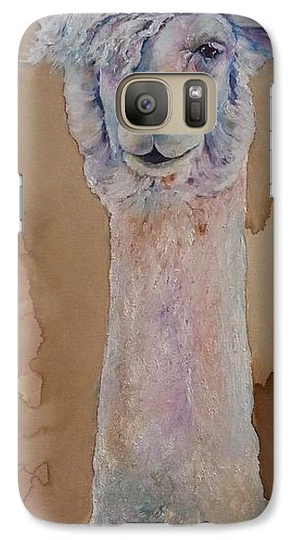 Galaxy Case featuring the painting Punk Rock Alpaca by Christy  Freeman
