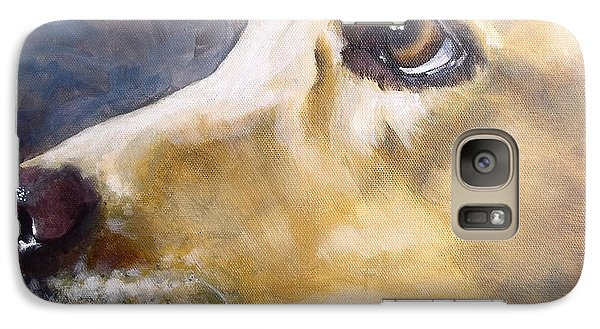 Galaxy Case featuring the painting Puppy Love by Diane Daigle