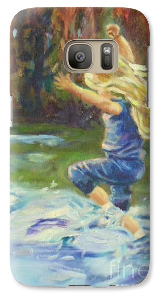 Galaxy Case featuring the painting Pure Delight by Marcia Dutton