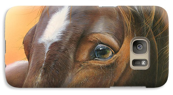 Galaxy Case featuring the painting Pure Grace by Mike Brown