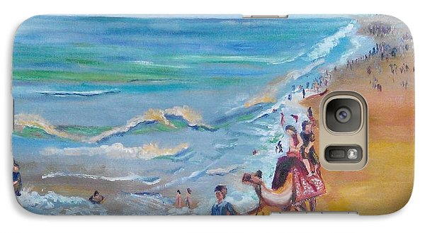 Galaxy Case featuring the painting Puri Beach India by Geeta Biswas