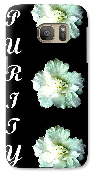 Galaxy Case featuring the photograph Purity Inspirational Art Collection By Saribelle Rodriguez by Saribelle Rodriguez