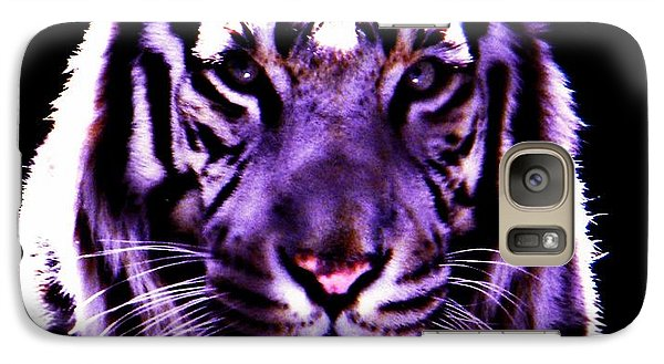 Galaxy Case featuring the photograph Purle Tiger by Amanda Eberly-Kudamik