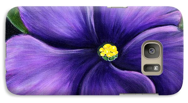 Galaxy Case featuring the painting Purple African Violet by Barbara Griffin