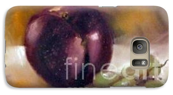 Galaxy Case featuring the painting Purple And Grapes by Sally Simon