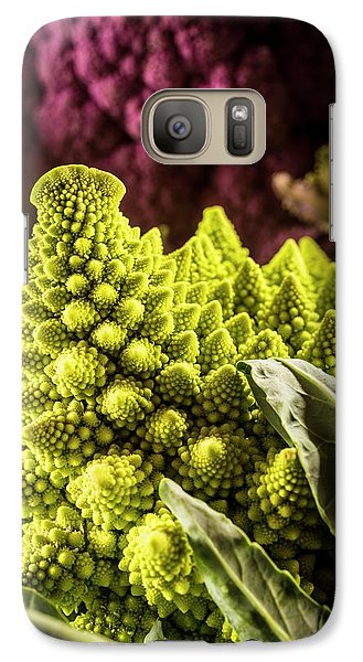 Purple And Romanesque Cauliflowers Galaxy Case by Aberration Films Ltd