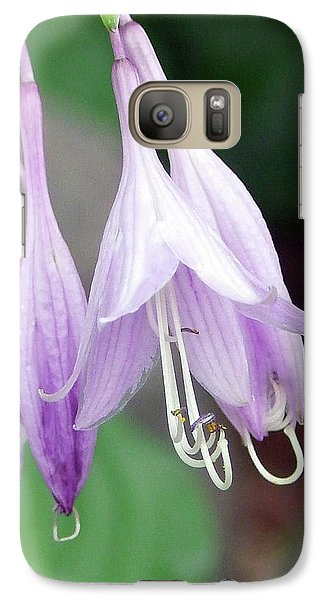 Galaxy Case featuring the photograph Purple And White Fuchsia by Ron Roberts
