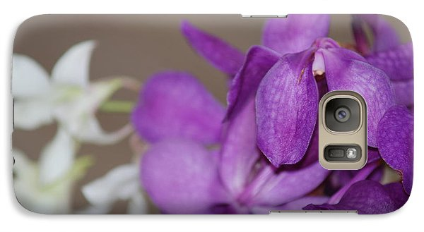 Galaxy Case featuring the photograph Purple And White by George Mount
