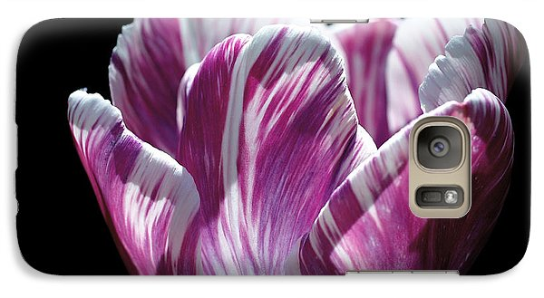 Purple And White Marbled Tulip Galaxy S7 Case