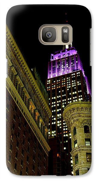 Galaxy Case featuring the photograph Purple Beacon by Michael Dorn