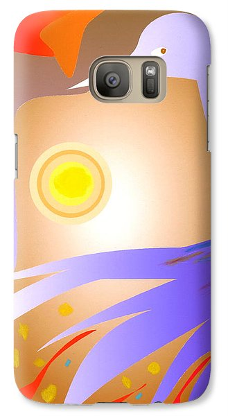 Galaxy Case featuring the digital art Purple Bird by Mary Armstrong
