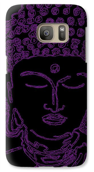 Galaxy Case featuring the digital art Purple Buddha by Christine Perry