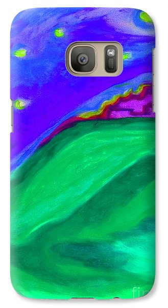 Galaxy Case featuring the painting Purple Castle By Jrr by First Star Art