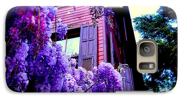 Galaxy Case featuring the photograph Purple Cheer by Zafer Gurel