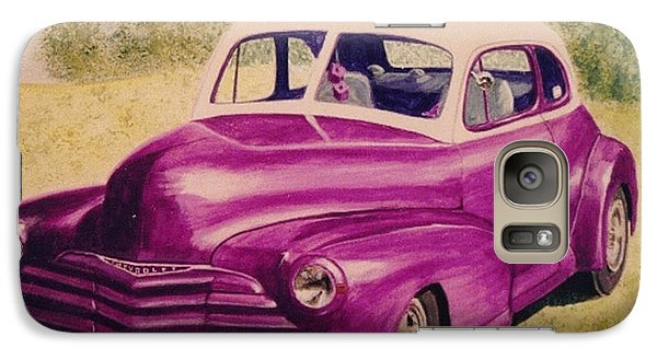 Galaxy Case featuring the painting Purple Chevrolet by Stacy C Bottoms