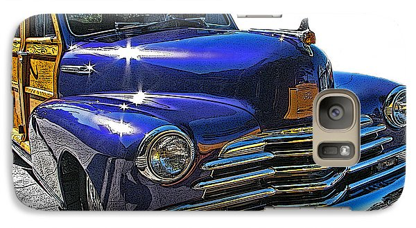 Galaxy Case featuring the photograph Purple Chevrolet Woody by Samuel Sheats
