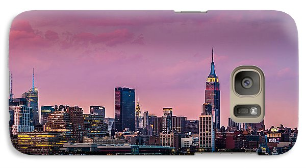 Galaxy Case featuring the photograph Purple City by Mihai Andritoiu