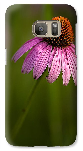 Purple Cone Flower Portrait Galaxy S7 Case
