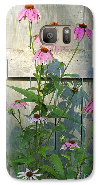 Galaxy Case featuring the photograph Purple Coneflower by Steve Augustin