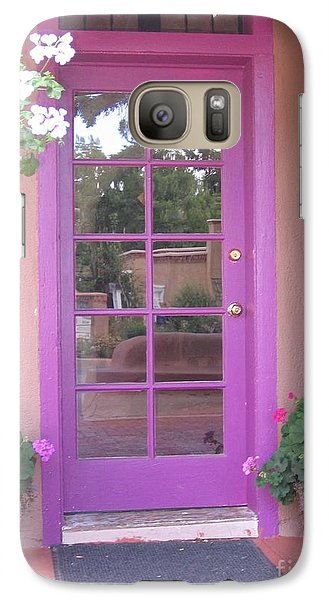 Galaxy Case featuring the photograph Purple Door by Dora Sofia Caputo Photographic Art and Design