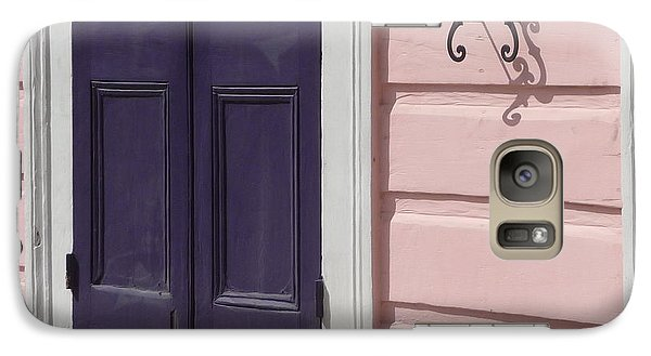 Galaxy Case featuring the photograph Purple Door by Valerie Reeves