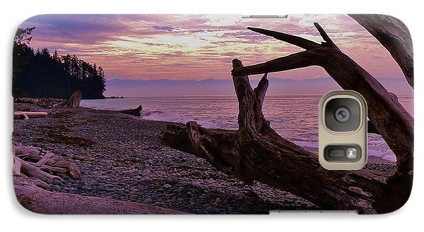 Galaxy Case featuring the photograph Purple Dreams In Bc by Barbara St Jean